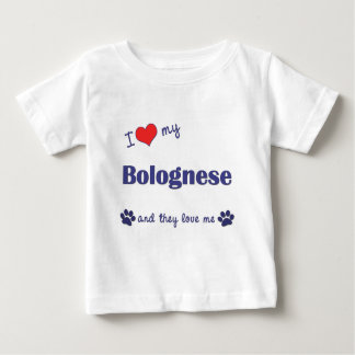 I Love My Bolognese (Multiple Dogs) Baby T-Shirt