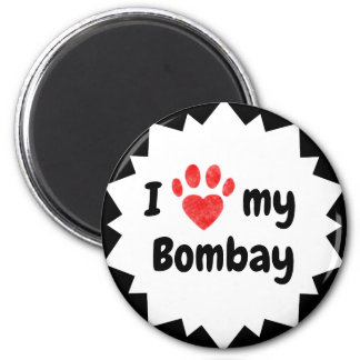 I Love My Bombay  Cat Magnet