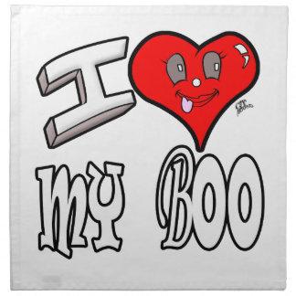 I Love My Boo Printed Napkins