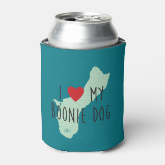 I Love My Boonie Dog Can Cooler