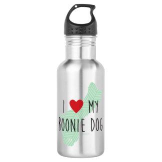 I Love My Boonie Dog Water Bottle (Green)