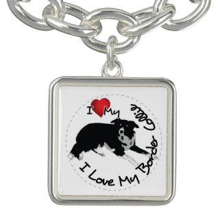 I Love My Border Collie Dog Bracelet