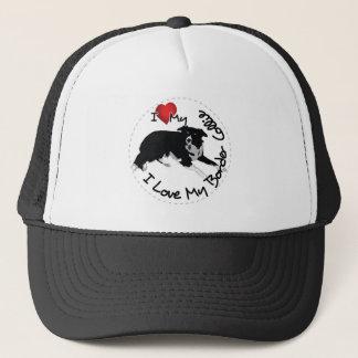 I Love My Border Collie Dog Trucker Hat