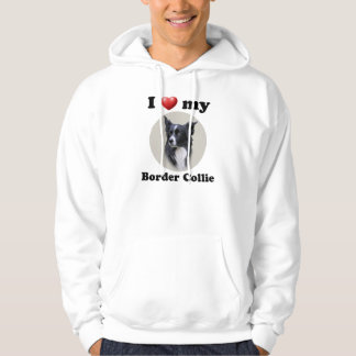 I Love My Border Collie Hoodie