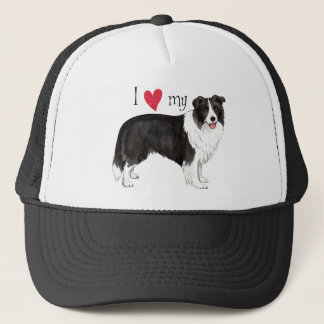 I Love my Border Collie Trucker Hat