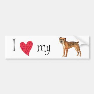 I Love my Border Terrier Bumper Sticker