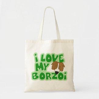 I Love My Borzoi Bag