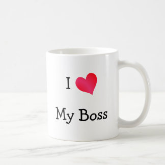 I Love My Boss Coffee Mug