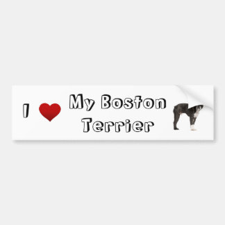 i love my Boston Terrier (2) Bumper Sticker