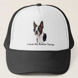 I Love My Boston Terrier Cap