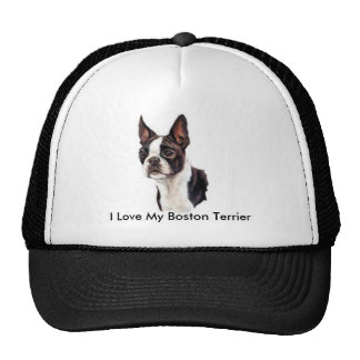I Love My Boston Terrier Cap Trucker Hat