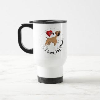 I Love My Boxer Dog Travel Mug