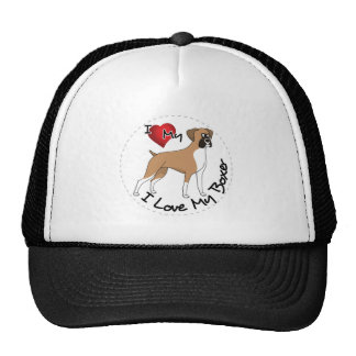 I Love My Boxer Dog Trucker Hat