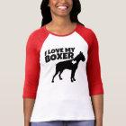 I love my Boxer dog women's shirt
