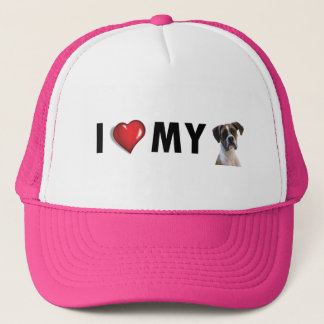 I Love My Boxer Hat - Boxer Dog Hat