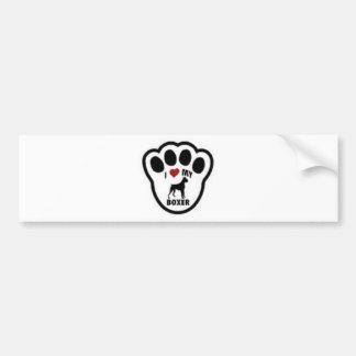 I love my Boxer Paw Print Bumper Sticker