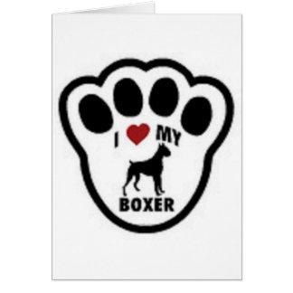 I love my Boxer Paw Print Greeting Card