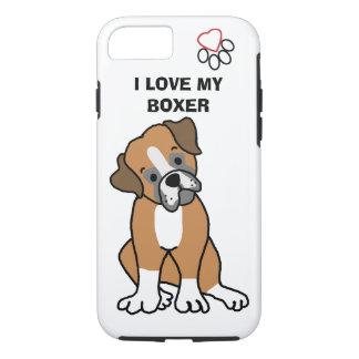 I Love my Boxer Phone Case