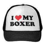 I Love My Boxer Trucker Hat