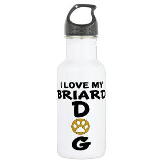 I Love My Briard Dog Designs 532 Ml Water Bottle