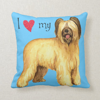 I Love my Briard Throw Pillow