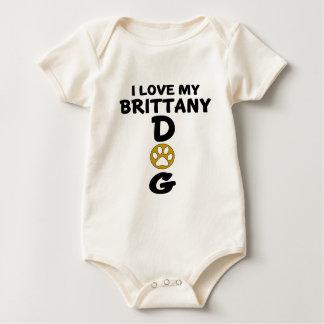 I Love My Brittany Dog Designs Baby Bodysuit