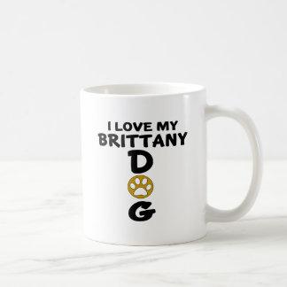 I Love My Brittany Dog Designs Coffee Mug