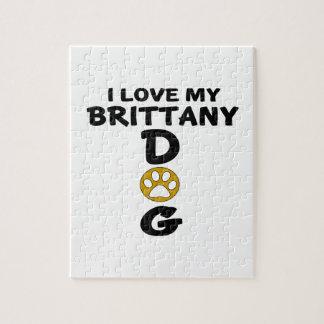 I Love My Brittany Dog Designs Jigsaw Puzzle