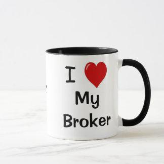 I Love My Broker My Broker Loves Me Mug