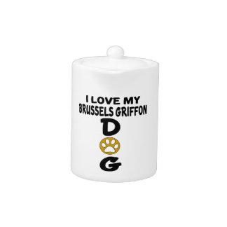 I Love My Brussels Griffon Dog Designs