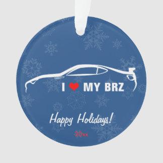 I Love My BRZ Ornament