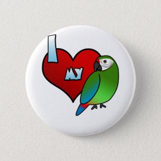 I Love my Buffon's Macaw 2 Inch Round Button