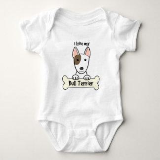I Love My Bull Terrier Baby Bodysuit