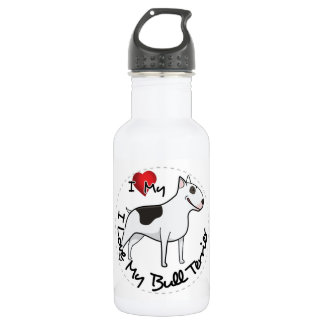 I Love My Bull Terrier Dog 532 Ml Water Bottle