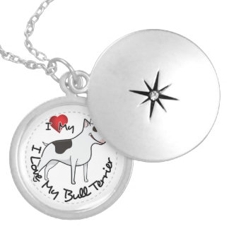 I Love My Bull Terrier Dog Locket Necklace