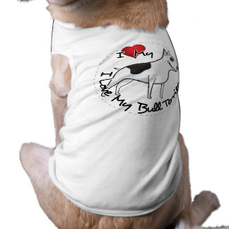 I Love My Bull Terrier Dog Shirt