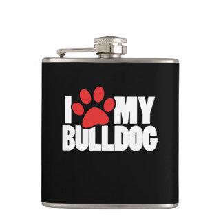 I love my bulldog flask