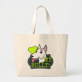 I Love my Bully Large Tote Bag