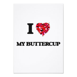 "I Love My Buttercup 5"" X 7"" Invitation Card"