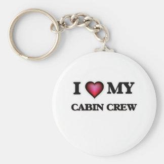 I love my Cabin Crew Basic Round Button Keychain