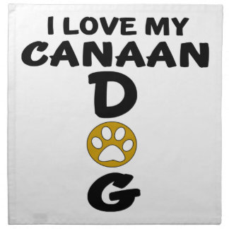 I Love My Canaan Dog Dog Designs Napkin