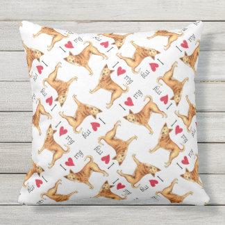 I Love my Canaan Dog Throw Pillow