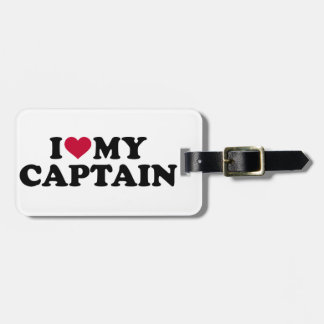 I love my captain luggage tag