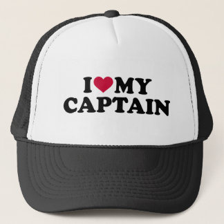 I love my captain trucker hat