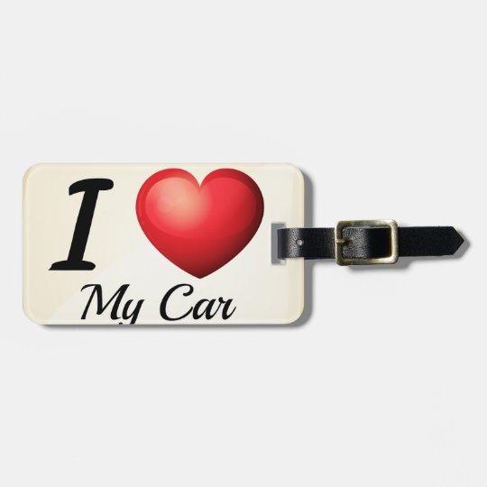 I love my car bag tag