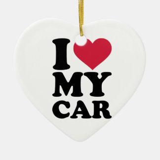 I love my car ceramic ornament
