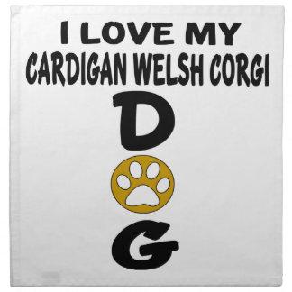 I Love My Cardigan Welsh Corgi Dog Designs Cloth Napkin