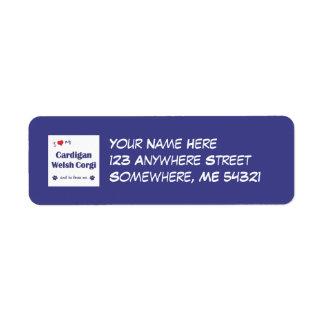 I Love My Cardigan Welsh Corgi (Male Dog) Return Address Label