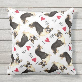 I Love my Cardigan Welsh Corgi Outdoor Pillow