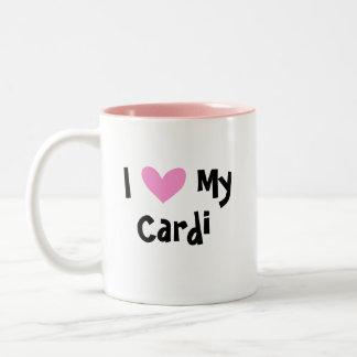 I Love My Cardigan Welsh Corgi Two-Tone Coffee Mug